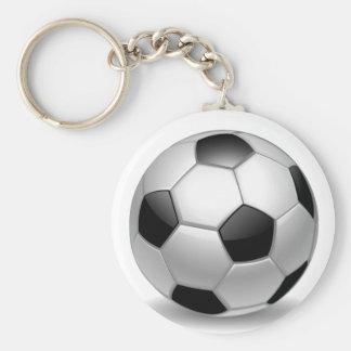 fútbol del fútbol 3D Llavero Redondo Tipo Pin