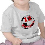 Fútbol del fútbol camisa del bebé de 12 meses para