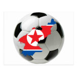 Fútbol del fútbol de Corea del Norte Postal