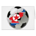 Fútbol del fútbol de Corea del Norte Tarjetón
