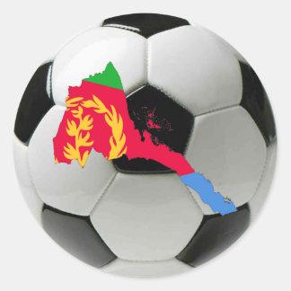 Fútbol del fútbol de Eritrea Pegatina Redonda