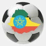 Fútbol del fútbol de Etiopía Etiquetas Redondas