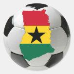 Fútbol del fútbol de Ghana Etiqueta Redonda