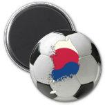 Fútbol del fútbol de la Corea del Sur Imán De Frigorífico