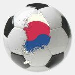 Fútbol del fútbol de la Corea del Sur Etiqueta Redonda