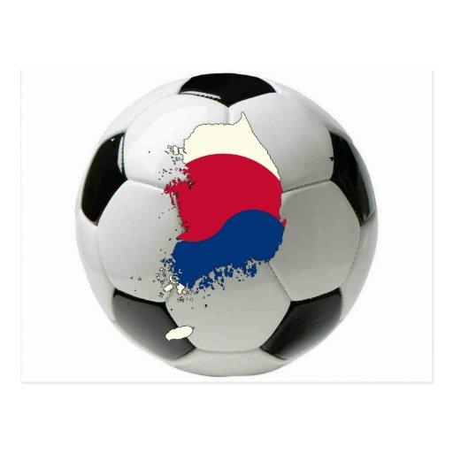 Fútbol del fútbol de la Corea del Sur Tarjetas Postales