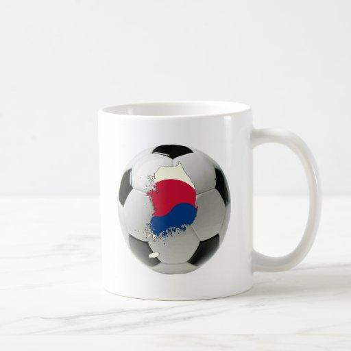 Fútbol del fútbol de la Corea del Sur Tazas