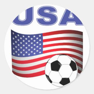 fútbol del fútbol de los E.E.U.U. Pegatina