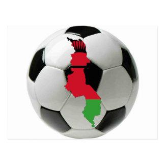 Fútbol del fútbol de Malawi Tarjetas Postales