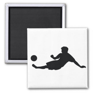 Fútbol del fútbol imán cuadrado
