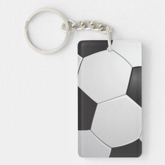Fútbol del fútbol llavero rectangular acrílico a doble cara