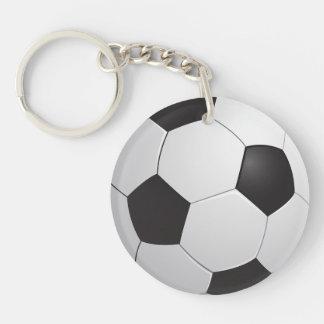 Fútbol del fútbol llavero redondo acrílico a doble cara