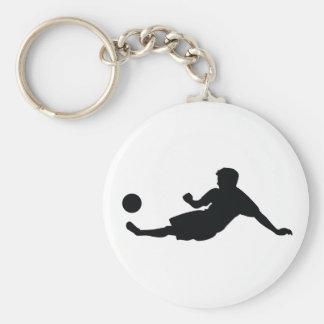 Fútbol del fútbol llavero redondo tipo pin