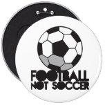 ¡Fútbol del FÚTBOL no! camisa de la bola Pin