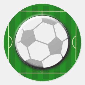 Fútbol del fútbol pegatina redonda