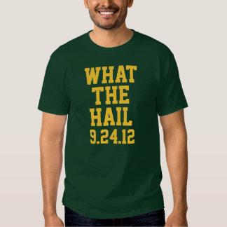 Fútbol del Green Bay: ¿Qué el saludo? 9/24/12 Playera