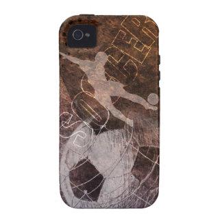 Fútbol del Grunge - hombres iPhone 4/4S Carcasas