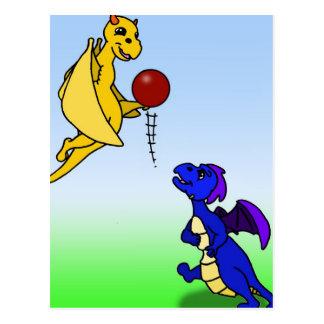 Fútbol del juego de Bip y de Wes Tarjeta Postal