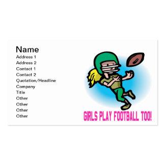 Fútbol del juego de los chicas también plantilla de tarjeta personal
