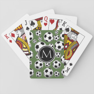Fútbol del monograma - top del árbol barajas de cartas