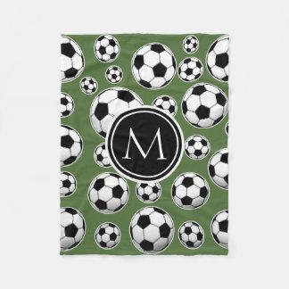 Fútbol del monograma - top del árbol manta polar