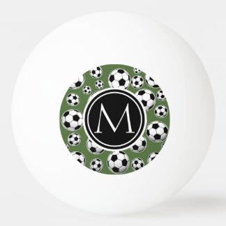 Fútbol del monograma - top del árbol pelota de ping pong