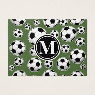 Fútbol del monograma - top del árbol tarjetas de visita grandes
