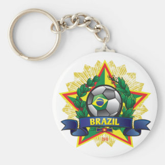 Fútbol del mundial del Brasil Llavero