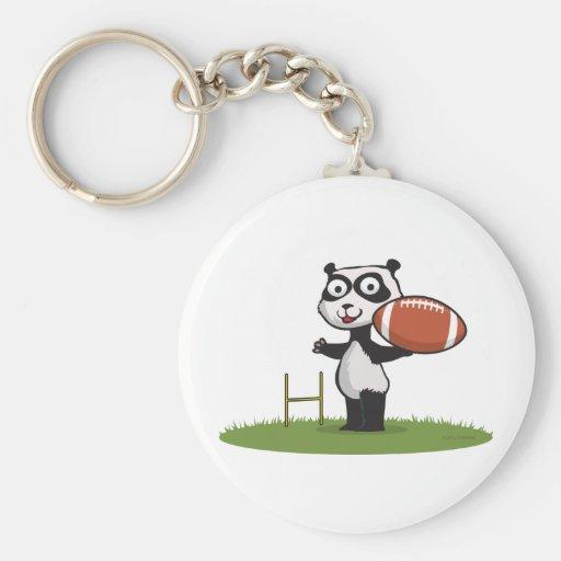 Fútbol del oso de panda llavero