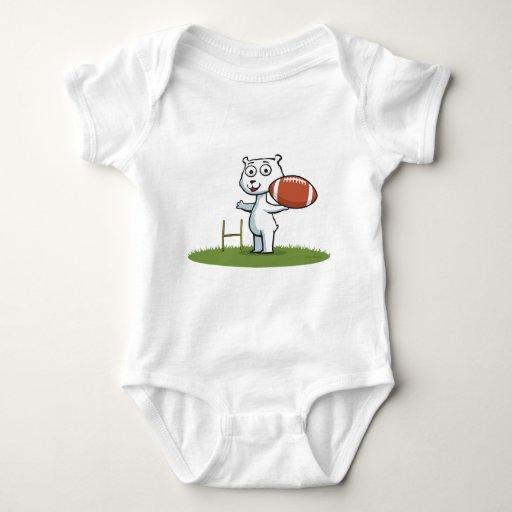 Fútbol del oso polar t shirt