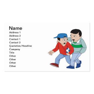 Fútbol del padre y del hijo tarjeta de visita