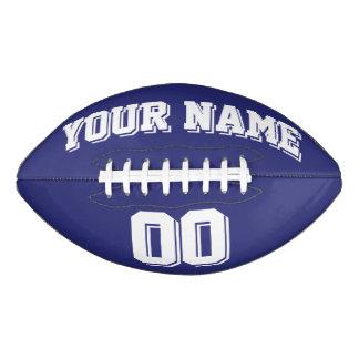 Fútbol del personalizado de los AZULES MARINOS Y Balón De Fútbol Americano