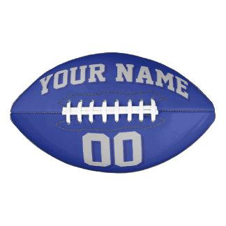 Fútbol del personalizado de los GRIS PLATEADOS Y Balón De Fútbol Americano