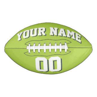 Fútbol del personalizado del BLANCO Y de la MARINA Balón De Fútbol Americano