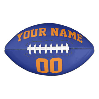 Fútbol del personalizado del NARANJA Y de la Balón De Fútbol Americano