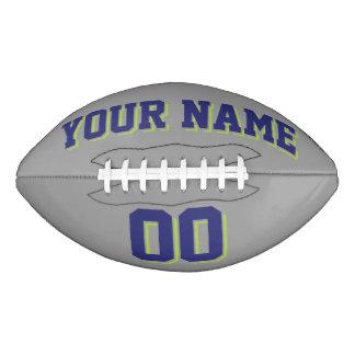 Fútbol del personalizado GRIS de los AZULES Balón De Fútbol Americano