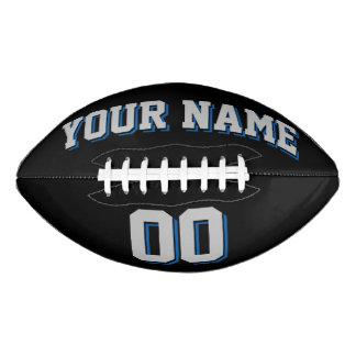 Fútbol del personalizado NEGRO de los GRIS Balón De Fútbol Americano
