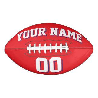 Fútbol del personalizado ROJO del BLANCO Y de la Balón De Fútbol Americano