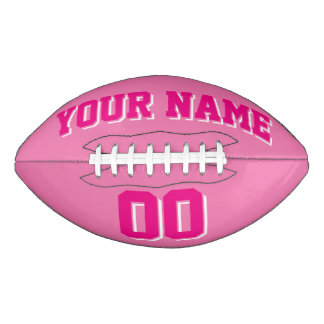 Fútbol del personalizado ROSADO de las ROSAS Balón De Fútbol Americano