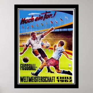 Fútbol del poster del vintage retro