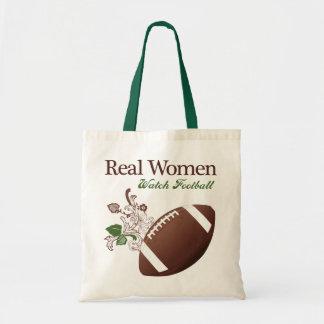 Fútbol del reloj de las mujeres reales bolsa tela barata