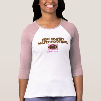fútbol del reloj de las mujeres reales de NFLPink Camisetas