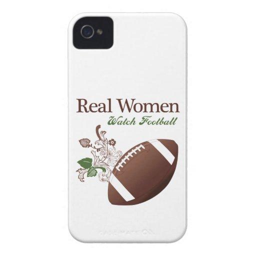 Fútbol del reloj de las mujeres reales Case-Mate iPhone 4 carcasas
