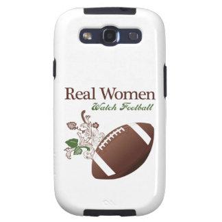Fútbol del reloj de las mujeres reales galaxy SIII cárcasas