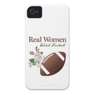 Fútbol del reloj de las mujeres reales iPhone 4 Case-Mate cárcasa
