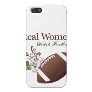 Fútbol del reloj de las mujeres reales iPhone 5 cárcasas