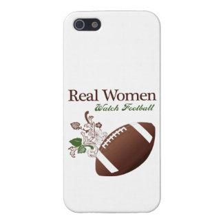 Fútbol del reloj de las mujeres reales iPhone 5 funda