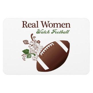 Fútbol del reloj de las mujeres reales iman rectangular