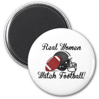¡Fútbol del reloj de las mujeres reales! Imán Redondo 5 Cm