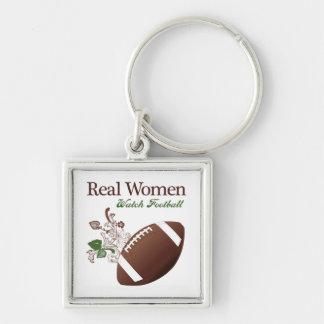 Fútbol del reloj de las mujeres reales llaveros